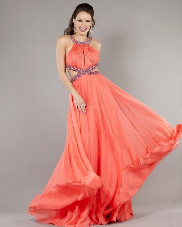 makeup for a coral dress, coral dress makeup