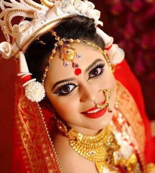 The Bengali Bridal Look, Indian Bridal Saree