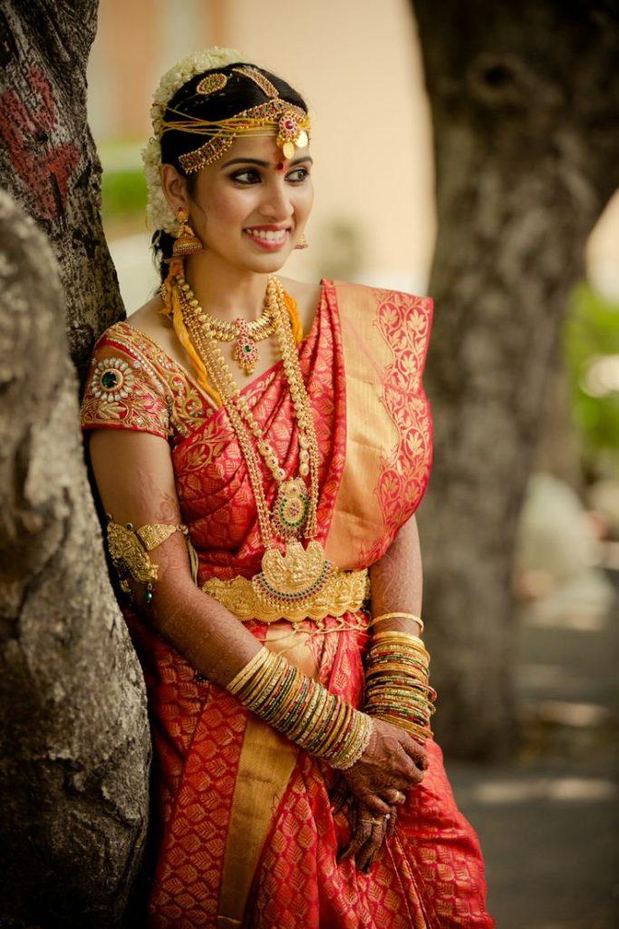 South Indian Bridal Look, Indian Bridal Saree