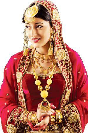 The Kashmiri Bridal Look, Indian Bridal Saree