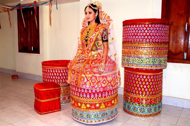 Manipuri Bridal Look, Indian Bridal Saree