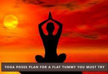 Yoga poses for flat tummy