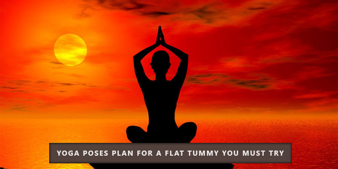 Yoga poses for flat tummy