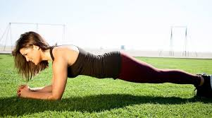 plank - Top five best exercises for flat abs
