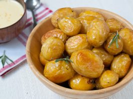 Fibre-rich baby potatoes healthy recipe