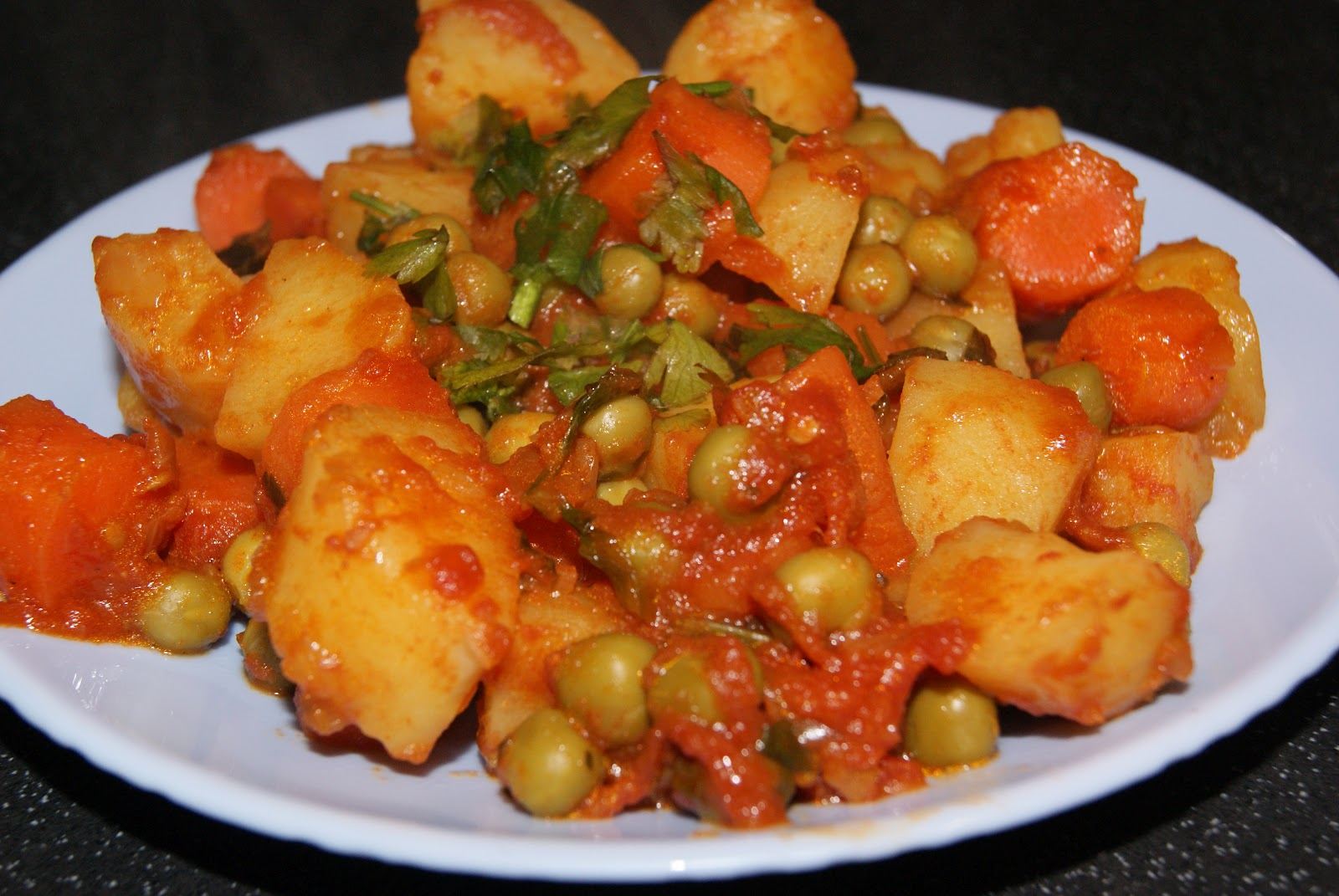 Delicious Aaloo Mutter Fry Recipe