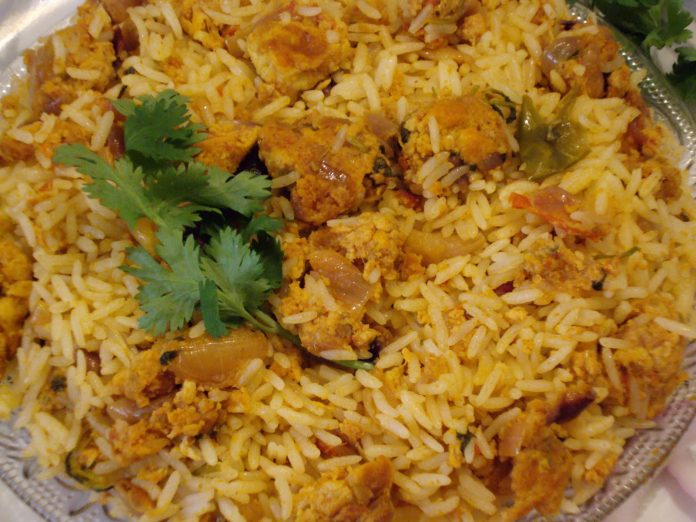 Spicy Egg Biryani recipe