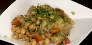 Healthy Aloo Chana Chat recipe