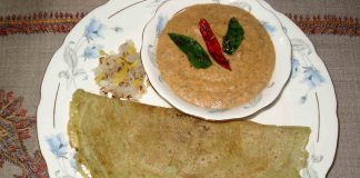 Pesarattu recipe or moong dal dosa recipe
