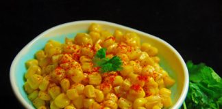 healthy hot n spicy corn chat