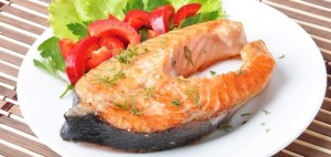salmon steak dish 570 300x142 - Omega-3 fatty acids are Brain Booster