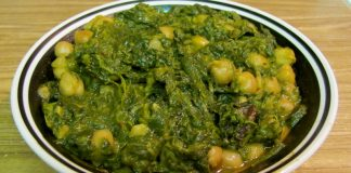 Healthy spinach chole recipe