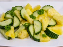 Pineapple & cucumber salad recipe