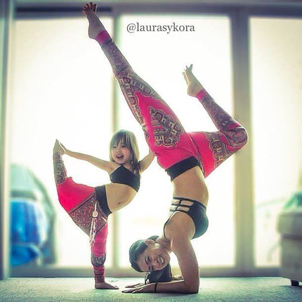 Laura Sykora Yoga with Daughter