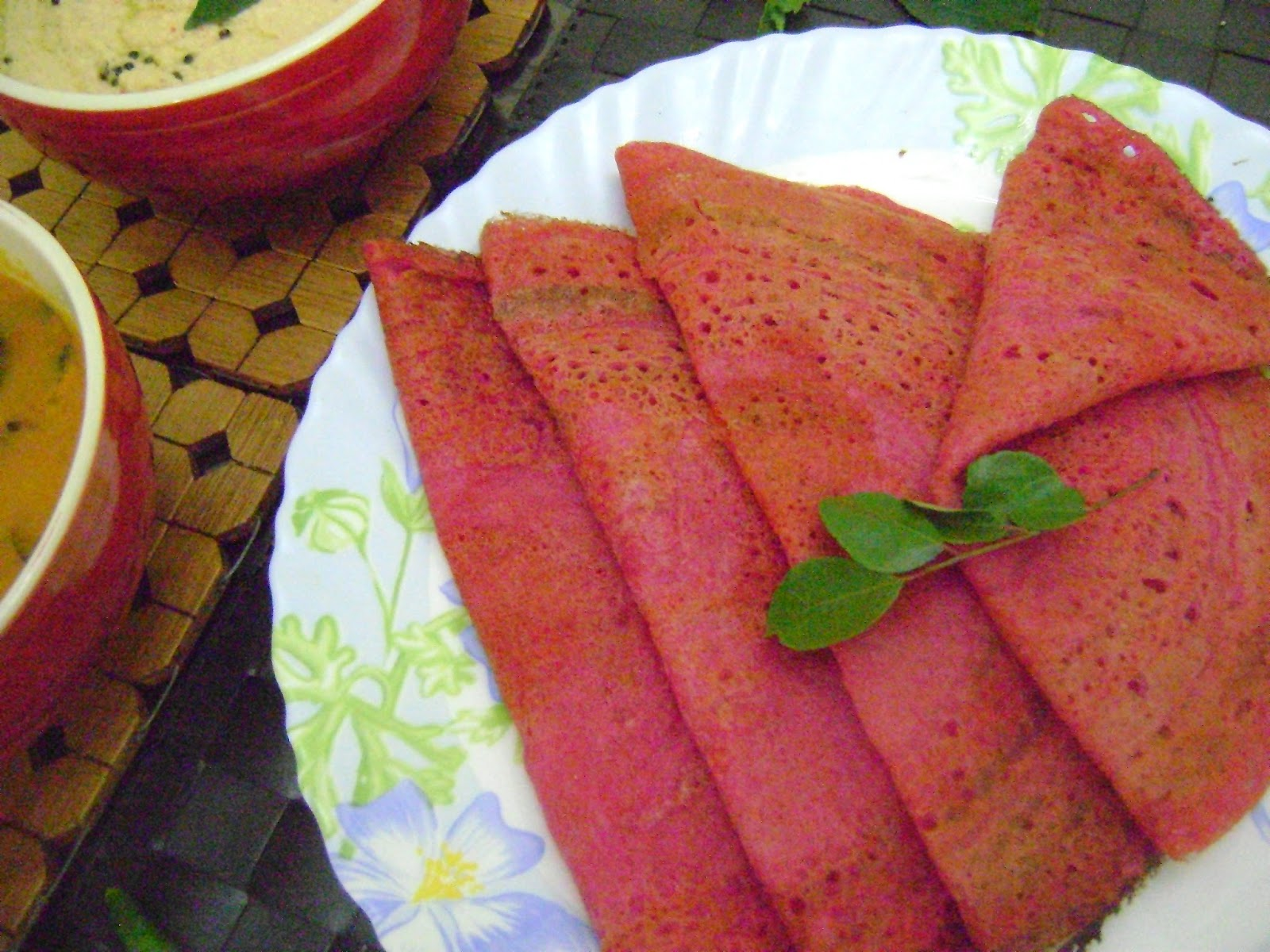 Delicious Beetroot Dosa recipe for breakfast