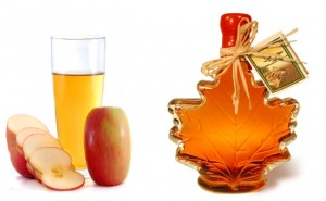 Diluted Apple Cider Vinegar With Maple Syrup 300x185 - How Vinegar Can Enhance Your Beauty