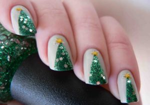Realistic Tree Nail Art