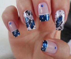 Alternating French Mani Nail Art