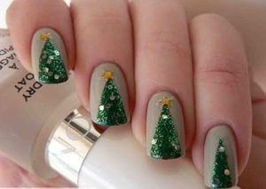 Simple Tree Nail Art