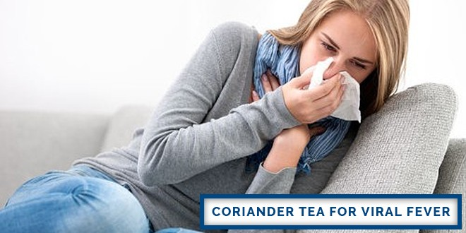 Coriander Tea for Viral Fever