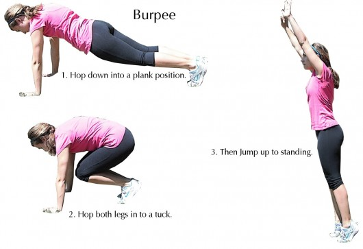 Burpee exercise - Make An Exercise Daily To Get A Small Waist!