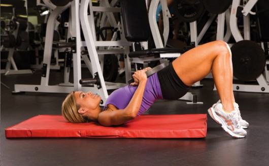 Hip thrust 1 - Make An Exercise Daily To Get A Small Waist!