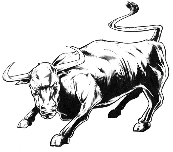 bull tattoo art - Tattoos for Taurus and Aquarius zodiac signs