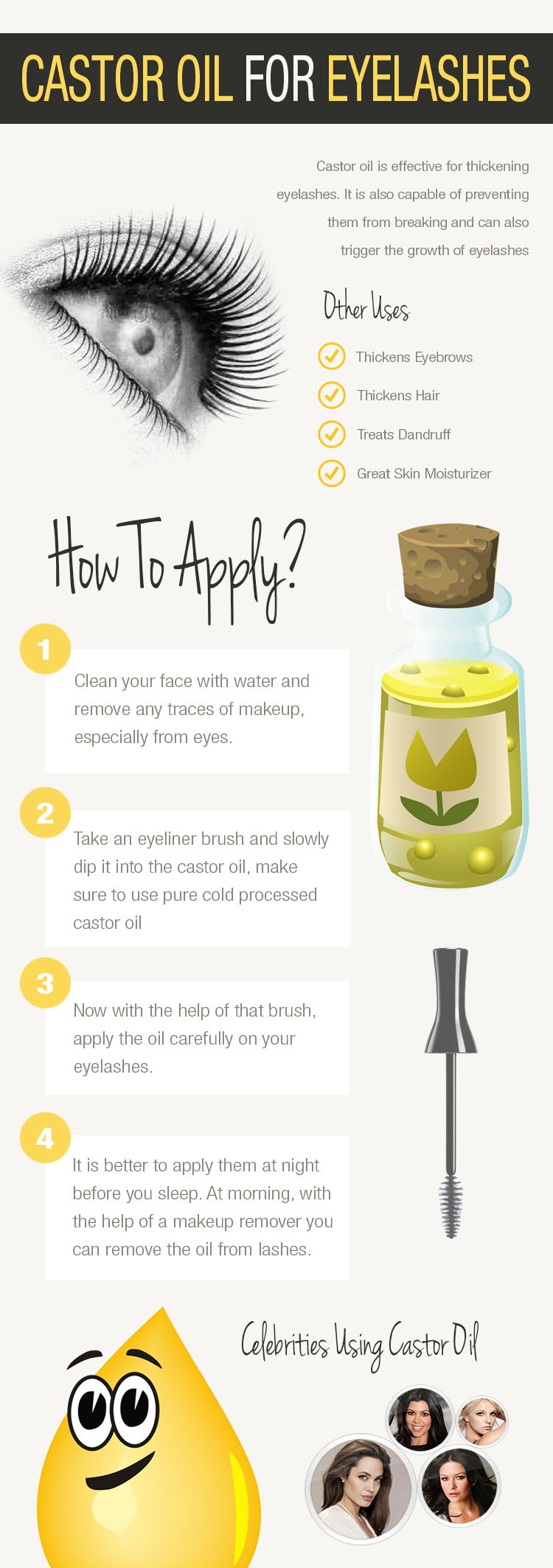 castor oil for lashes 1 - Castor Oil For Eyelashes To Make Longer And Thicker