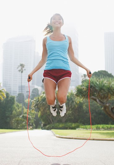 jump rope skipping girl - Make An Exercise Daily To Get A Small Waist!