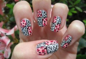 5 300x209 - Best Animal print nail art designs for you