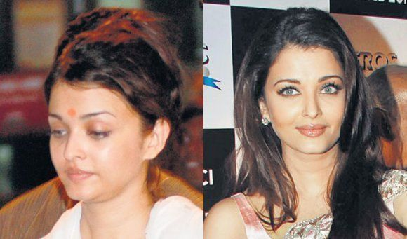 Aishwarya with and without makeup pic Aishwarya Rai without makeup - Aishwarya Rai Without Makeup Pictures