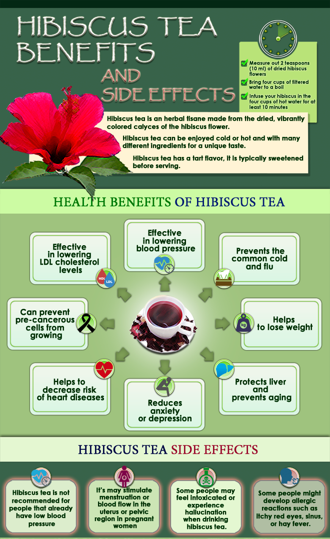 Infographic BenefitsHibiscusTea 660 826 - Health Benefits And Side Effects Of Hibiscus Tea