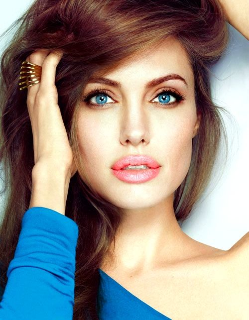 The Balance between lip color and eye color, Angelina jolie weight