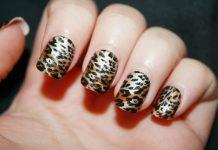 Animal print nail art designs