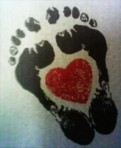 1 245x300 - Best Baby footprint tattoos Designs For You!