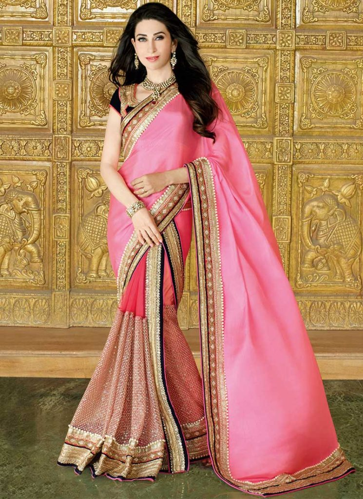 5 Pakistani and Indian Designer Party Wear Saree Collection 2016 2017 4 745x1024 - Latest Indian Saree Styles In 2017