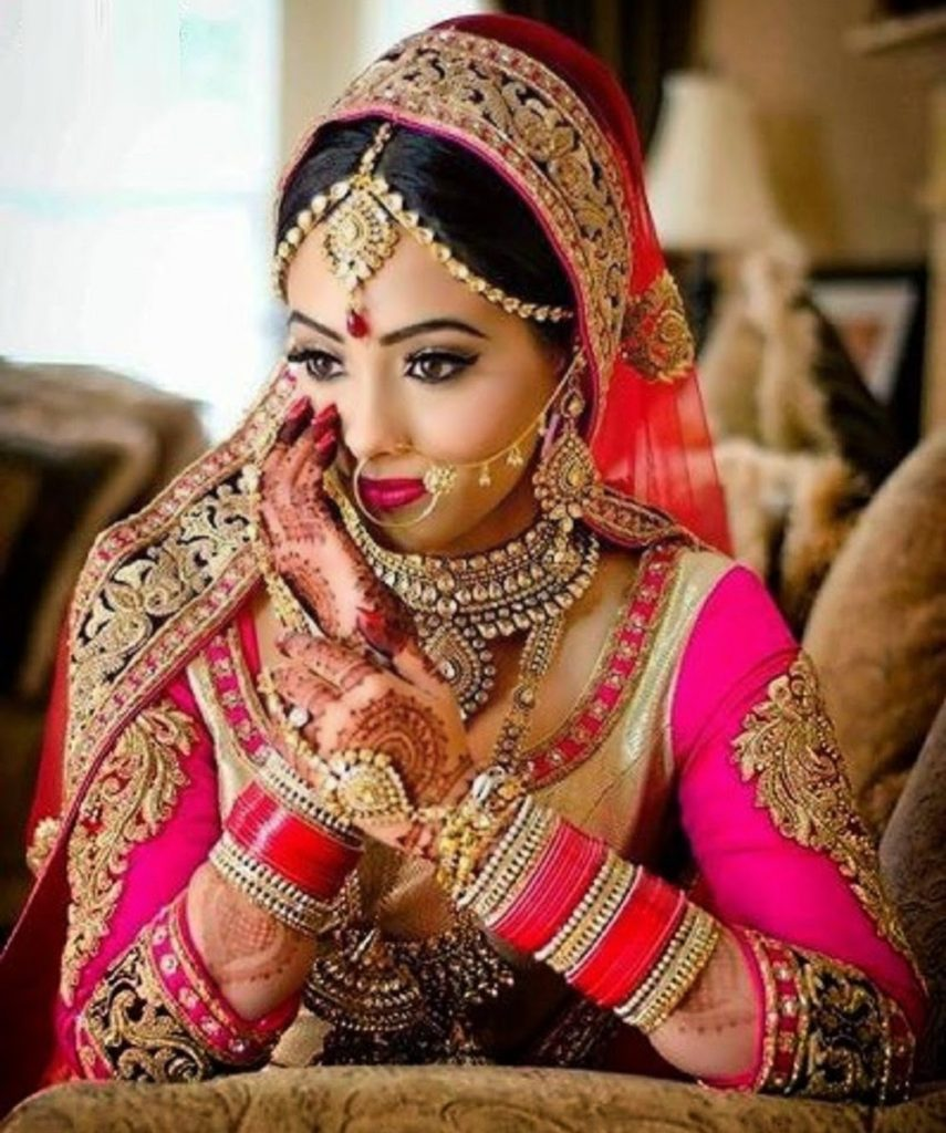 Indian Bridal Makeup Trends Of 2014 009 855x1024 - Top 10 Most Beautiful Indian Bridal Sarees Looks