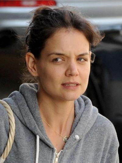hollywood stars without makeup, Katie Holmes