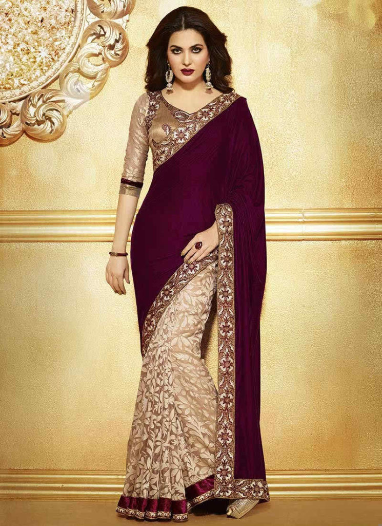 Latest Designer Saree Collection 2016 2017 745x1024 - Latest Indian Saree Styles In 2017