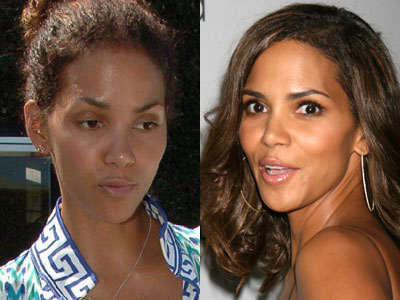 Halle Berry, hollywood celebrities without makeup