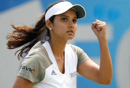 Female Sports Celebrity Sania Mirza - Top Most Female Sports Celebrities In India