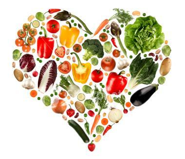fruits veggies heart - Amazing Health Benefits of Alkaline Diet