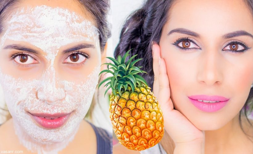 DIY Homemade Pineapple face packs for glowing Skin