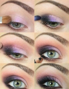 Purple Smokey Eye Tutorial 233x300 - Smoky Eye Makeup - giving your eyes subtle language