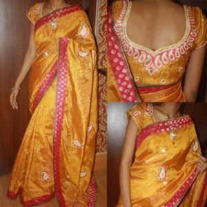 2 300x300 - Best Maggam Work Border Designs on Sarees For You