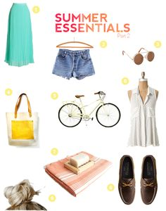 You Must and Should Have Summer Essentials