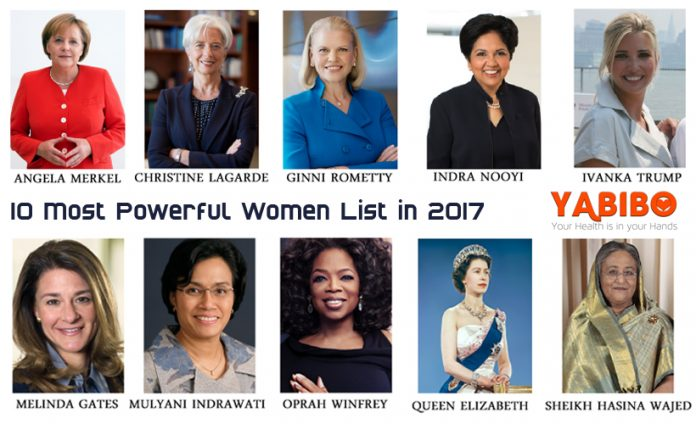 10 Most Powerful Women List in 2017