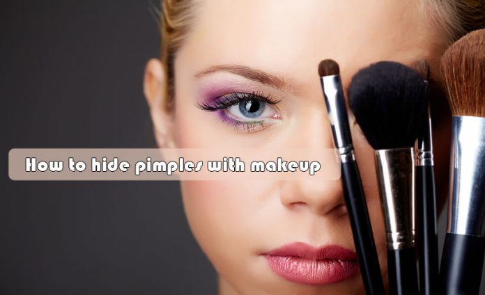 How to hide pimples with makeup?