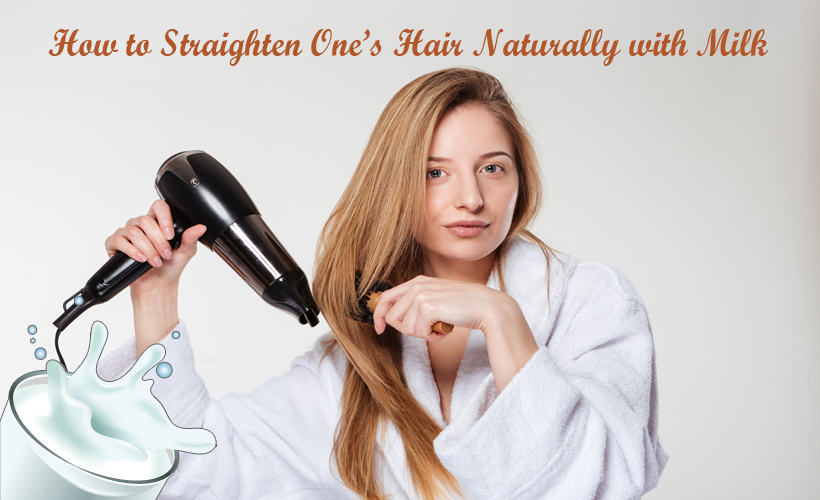 attractive woman drying her hair isolated on a white background HtneyuWRSs - How to Straighten One's Hair Naturally with Milk?