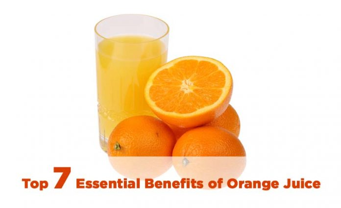 Top 7 Essential Benefits of Orange Juice
